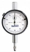 Relógio comparador analógico de leitura centesimal (0,01mm) e curso de 10mm.