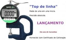 100% BRASILEIRO - GARANTIA DE UM ANO  FORNECIDO COM CERTIFICADO DE CALIBRAÇÃO  TOP DE LINHA - o melhor e mais preciso medidor de espessura manual fabricado no Brasil.